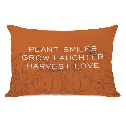 Harvest Love - Orange Throw Pillow by OBC