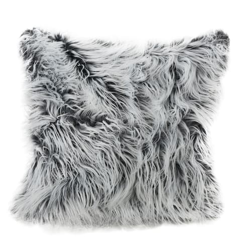 Cianan Faux Furry Pillow by Christopher Knight Home