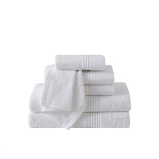 VCNY Home Ribbed 6-piece 100-percent Cotton Bath Towel Set