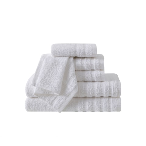 VCNY Home Wide Ribbed 6-piece Towel Set
