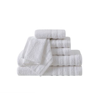 VCNY Home Wide Ribbed 6-piece 100-percent Cotton Bath Towel Set