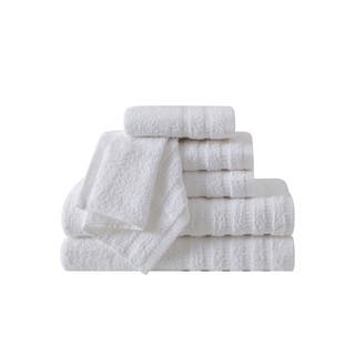 VCNY Home Wide Ribbed 6-piece 100-percent Cotton Bath Towel Set (Option: Ivory)|https://ak1.ostkcdn.com/images/products/17857342/P24044427.jpg?impolicy=medium