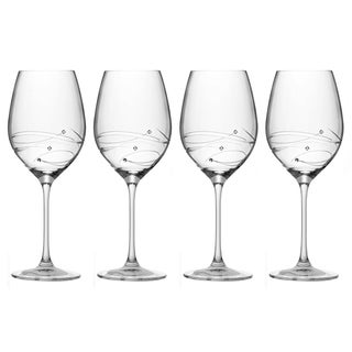 Barski Sparkle Crystal Red Wine Glasses (Set of 4)