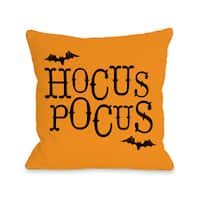 Hocus Pocus - Orange  16 or 18 inch Throw Pillow by OBC