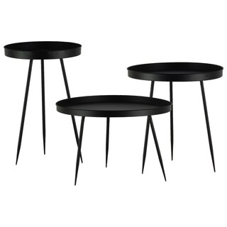 Urban Trends Collection UTC36185 Matte Black Finish Metal Table