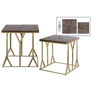 Urban Trends Collection UTC67119 Metallic Finish Gold Metal Table