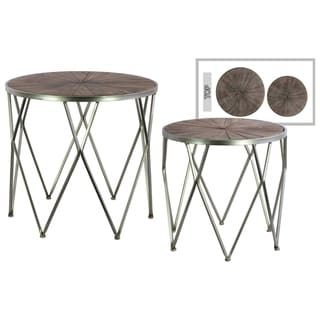 Urban Trends Collection UTC67149 Antique Metallic Silver Finish Metal Table