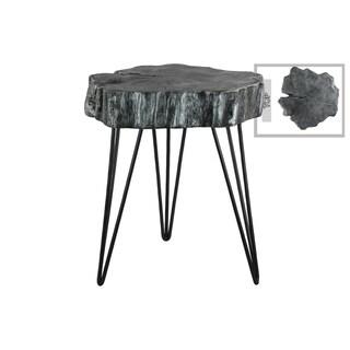Urban Trends Collection Grey Metallic Finish Metal Table