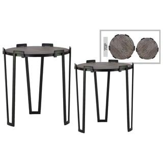 Round Black Metal Table