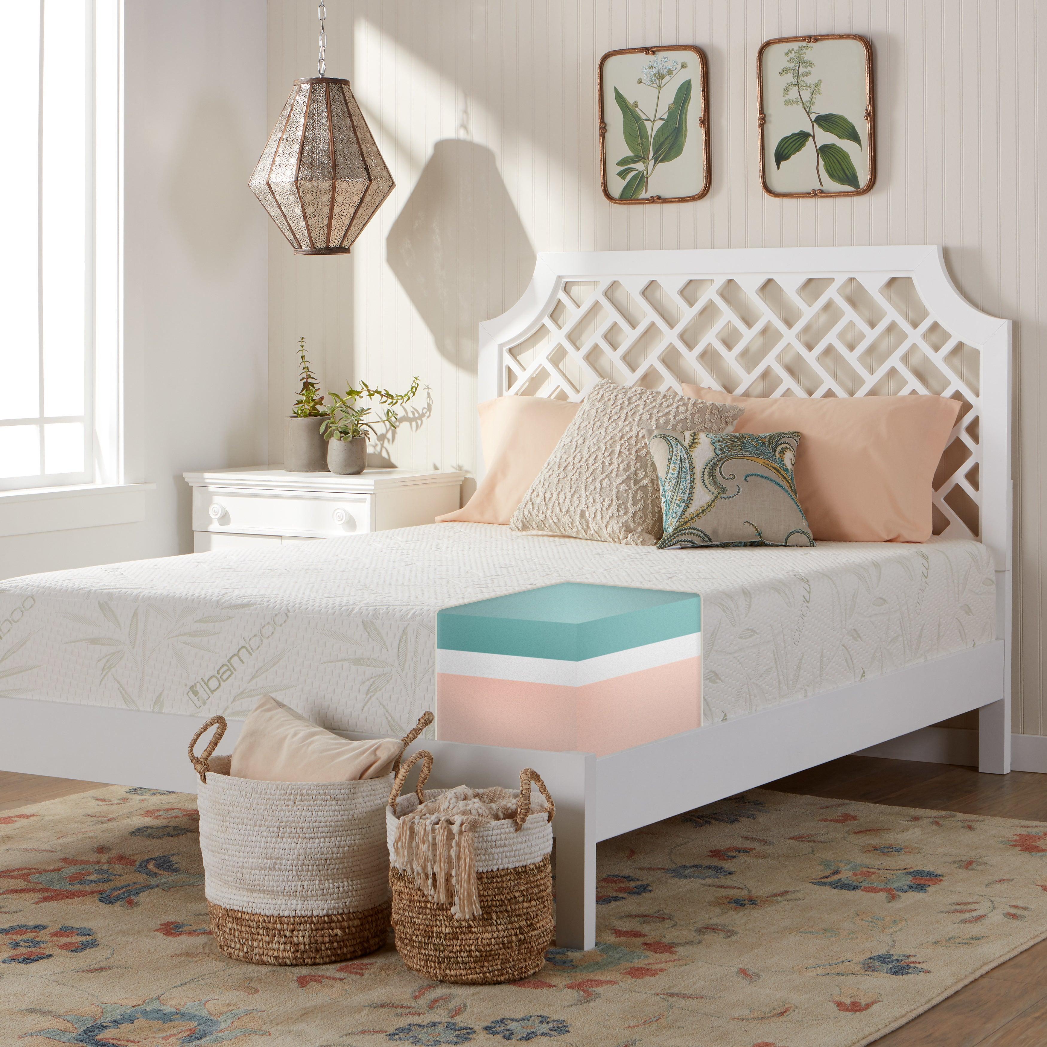 Comfort Dreams Luxury 12 Inch Twin Size Eco Memory Foam Mattress