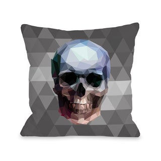 Skullica - Gray Multi  16 or 18 inch Throw Pillow by OBC