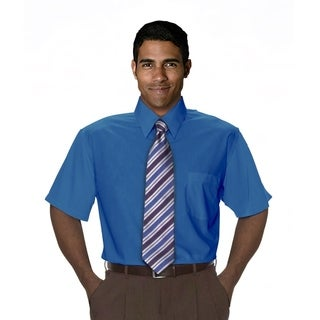 Twin Hill Mens Shirt Cobalt Cotton/Poly (Option: 22.5)