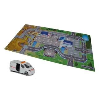 Creatix Construction Playmat Playset with 1 Car