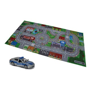 Creatix SOS Playmat Playset with 1 Die-Cast Car