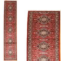 Persian Hand Knotted Rug 7 Red/Black 1 Art Silk