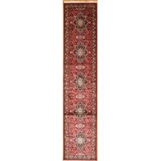 Persian Hand Knotted rug 12' 1 X  2' 6 Red/Black 100% Art Silk