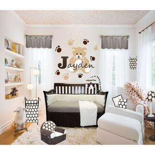 Cotton Tale Designs Jayden Chocolate and cream Cotton 8-piece Crib Bedding Set|https://ak1.ostkcdn.com/images/products/17874313/P24059418.jpg?impolicy=medium