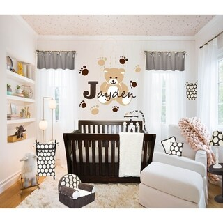 Cotton Tale Designs Jayden Chocolate and cream Cotton 7-piece Crib Bedding Set