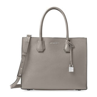 Michael Kors Mercer Pearl Grey Large Convertible Tote Bag
