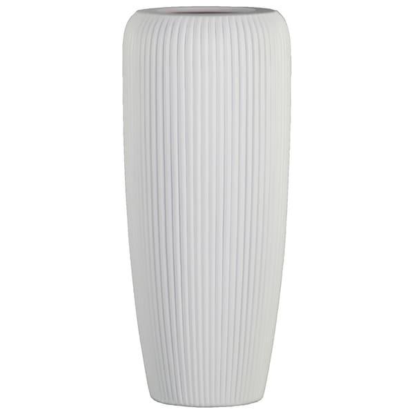 Shop Utc53000 Ceramic Tall Cylinder Vase With Ribbed Design Body