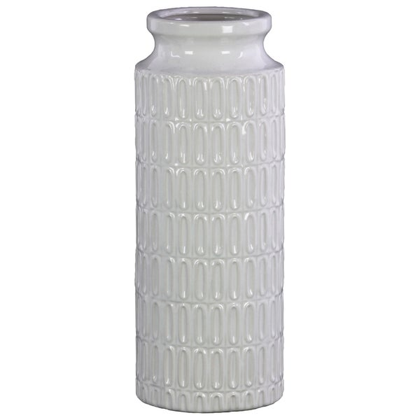 Shop Utc46314 Ceramic Tall Cylindrical Vase With Wide Mouth Short