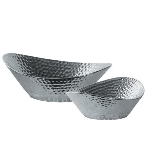UTC21270 Ceramic Vase Polished Chrome Finish Silver