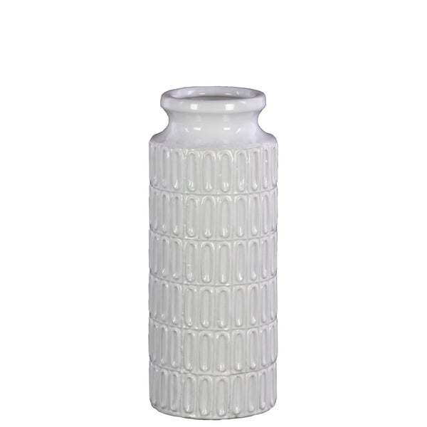 Shop Utc46315 Ceramic Cylindrical Vase With Wide Mouth Short Neck