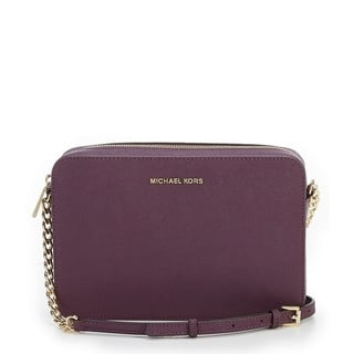 Michael Kors Jet Set Large Saffiano Leather Crossbody - Damson|https://ak1.ostkcdn.com/images/products/17875705/P24061608.jpg?impolicy=medium