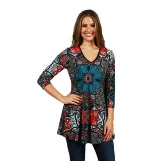 24/7 Comfort Apparel Pacific Heights Tunic Top (Option: S)