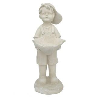 Resin Boy Figurine - Ivory