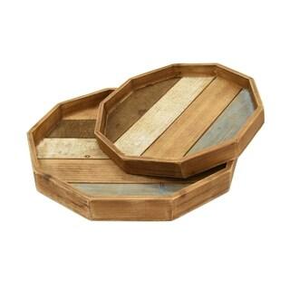 Wood Tray S/2
