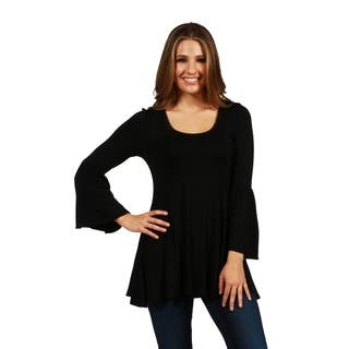 24/7 Comfort Apparel Del Mar Tunic Top|https://ak1.ostkcdn.com/images/products/17876466/P24062110.jpg?impolicy=medium