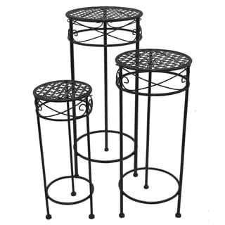 Round Plant Stand S/3 - Matte