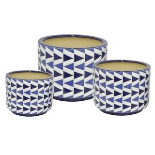 Ceramic Planter S/3 - l13x13x10 * m 10x10x8.5 * s 8.5x8.5x7