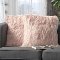 Cianan Faux Furry Pillows (Set of 2) by Christopher Knight Home