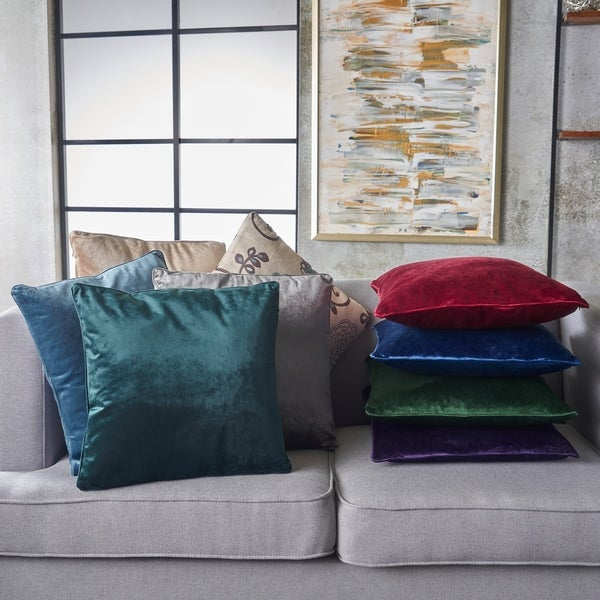 Ippolito New Velvet Pillows (Set of 2) by Christopher Knight Home. Opens flyout.