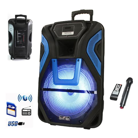 beFree Sound 15 Inch Portable Bluetooth PA Speaker System