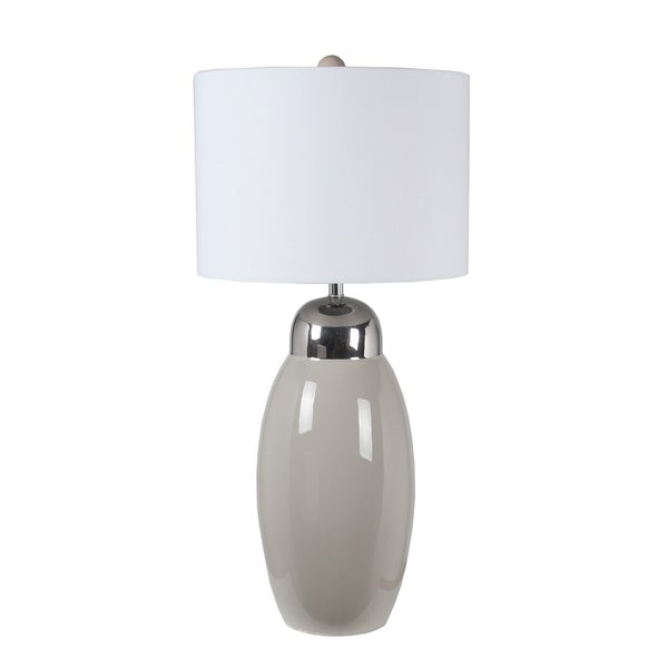 45W Ceramic Table Lamp - Grey Metalic