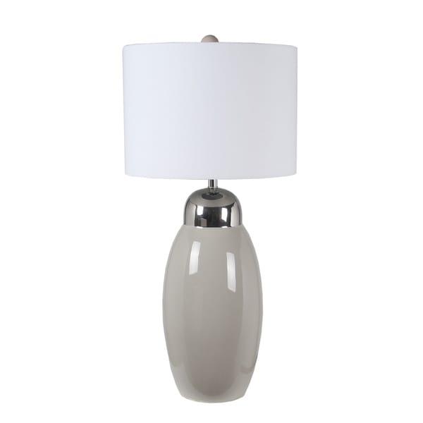 45W Ceramic Table Lamp - Grey Metalic