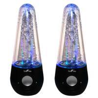 BeFree Sound Bluetooth Wireless Multimedia LED Dancing Water Speakers, Black