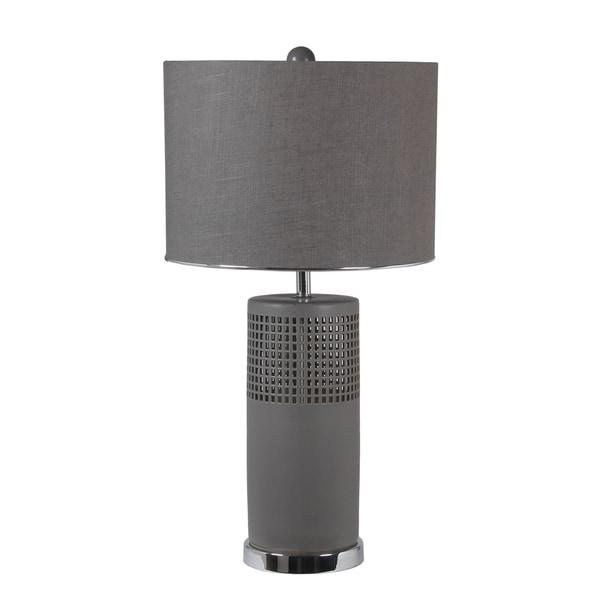 45W Ceramic Table Lamp - Matte Grey