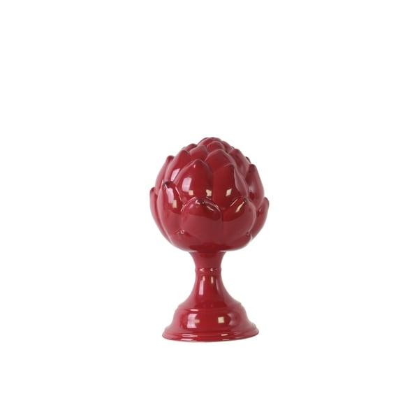 Urban Trends Ceramic Artichoke Figurine On Pedestal in Gloss Finish, Small - Red - N/A