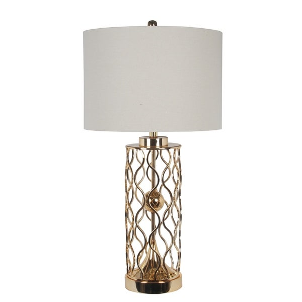 150W 3way Gold Pattern Table Lamp