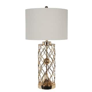 Uplight table lamps for less overstock 150w 3way gold pattern table lamp aloadofball Choice Image
