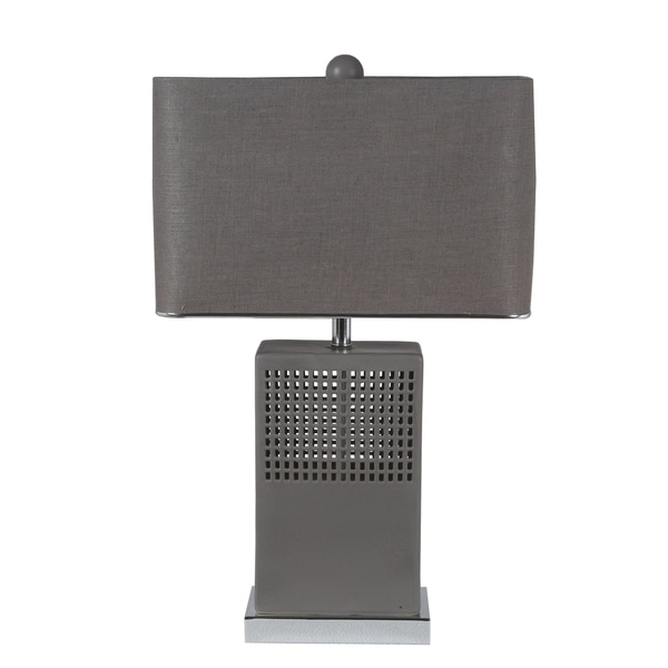 45W Ceramic Table Lamp - Matte Grey