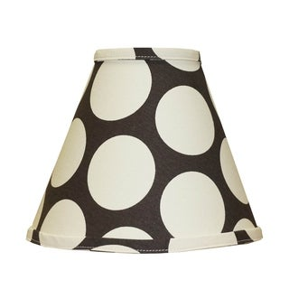 Cotton Tale Designs Jayden Chocolate and Cream Dot Lamp Shade