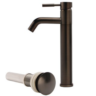 Fontaine Brushed Bronze Vessel Faucet with Drain