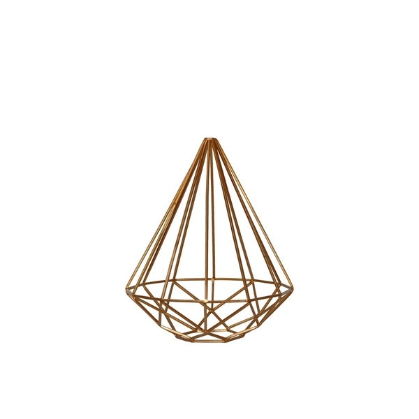 Urban Trends Metal Abstract Triangle Sculpture with Tapered Bottom in Coated Finish, Small - Gold - N/A