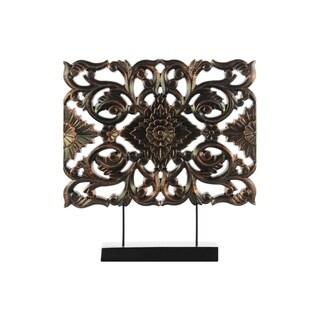 UTC43416 Wood Ornament Rubbed Finish Bronze