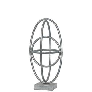 UTC36176 Metal Sculpture Leaf Finish Silver